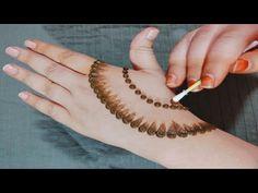 Easy Simple Mehndi Design Back Hand Back Hand Mehndi Designs, Mehndi Designs Book, Indian Mehndi Designs, Mehndi Designs For Girls, Mehndi Design Photos, Henna Designs Easy, Mehndi Designs For Fingers, Beautiful Mehndi Design, Modern Mehndi Designs