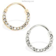 14K Gold Septum Ring #mspiercing #piercings