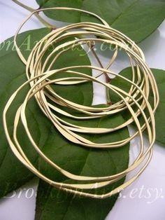 Thin Hammered Bangle Bracelets
