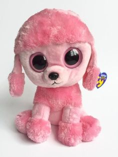 ef7ce47526d Ty Beanie Boo Buddy Medium 9 Princess Pink Poodle Dog 2012 Purple Tag  Retired