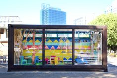 Cape Town-based Cécile & Boyd might be renowned and awarded for their high-end lodges and hotels but it is their Foundation project that is the real winner. Container Architecture, Community Space, African Design, Worlds Of Fun, Amazing Architecture, Textile Prints, Pop Up, Foundation, Texture