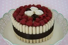 White Chocolate & Raspberry Cake by B (Jen & Sarah), via Flickr  mmm Dream fingers