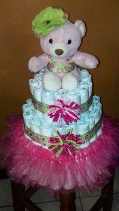 Tutu Diaper Cake | Tutu Diaper Cake | Baby shower | Pinterest