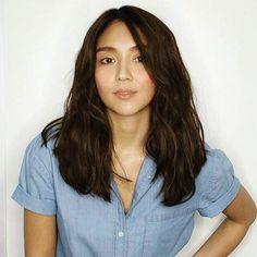 Pretty naman this Girl 😘😘 Daniel Johns, Kathryn Bernardo, Filipina, Queen Of Hearts, Hair Goals, Asian Beauty, Stylists, Long Hair Styles, Celebrities