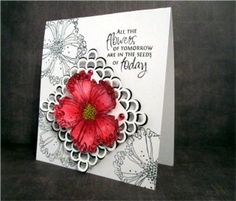 Woops! Some just pointed out this is a Stampendous.  This is one of my all time favorite stamps. I spent so much time trying to do this flower justice. And you really don't have to try very hard at all to make a really pretty card. http://PopPaperSissors.blogspot.com
