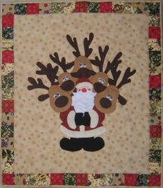 Take a look at our niche site for even more in regards to this terrific Christian quilt Christmas Blocks, Christmas Sewing, Christmas Art, Christmas Quilting, Cute Quilts, Mini Quilts, Quilting Quotes, Santa And His Reindeer, Christmas Wall Hangings