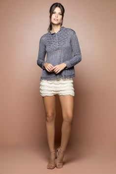 US$ 1,475.00 -Netuno Annecy Crochet Top - Vanessa Montoro USA - vanessamontorolojausa