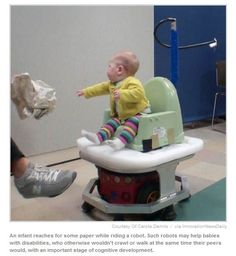 How Baby-Driven Robots Could Help Children with Disabilities - Pinned by @PediaStaff. - Please Visit http://ht.ly/63sNt for all our pediatric therapy pins