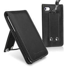 INSTEN LEATHER CASE COVER compatible with iPod touch® 4 G 4TH GEN - Stop worrying about scratching your Apple® iPod touch® 4th gen with this leather case accessory. Leather case features smooth synthetic leather and heavy duty stitching to ensure