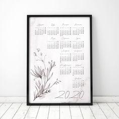 Plakat: Kalendarz 2020_VII Letter Board, Lettering, Design, Drawing Letters, Brush Lettering