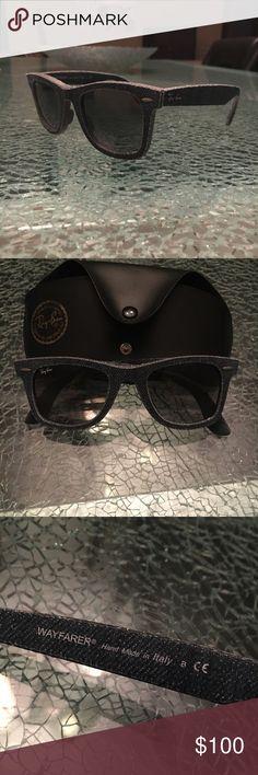 Ray ban original wayfarer denim sunglasses Never worn, blue denim sunglasses black lenses Ray-Ban Accessories Sunglasses
