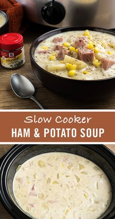 Give holiday ham leftovers a second life in this hearty ham and potato slow cooker soup recipe. Season ingredients with McCormick Thyme and Garlic Powder for robust, savory flavor, and let the slow cooker work its magic.