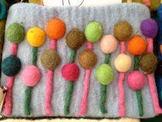 Lana by Sara Molano Felt Wool wallet bag pouch Purse by SaraMolano, $15.00