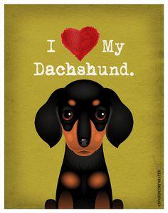 Me encanta mi perro salchicha amo a mi perro por DogsIncorporated