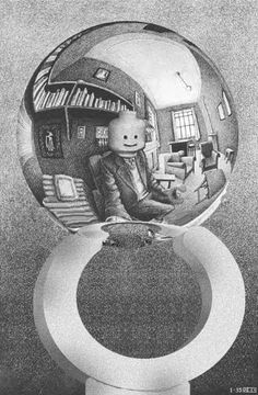Escher - Lego - Hand with Reflecting Sphere