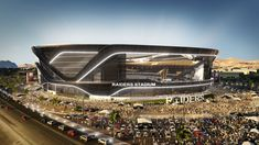 The Oakland Raiders' Proposed Las Vegas NFL Stadium Promises Spectacular Views Stadium Architecture, Moving To Las Vegas, Soccer Stadium, National Stadium, Football Stadiums, Football Field, San Diego Chargers, Raider Nation, World Cup