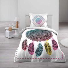 Moderní povlečení pro mladé s barevným motivem Comforters, Mandala, Throw Pillows, Blanket, Home, To Sleep, Bedding, Slipcovers, Grey
