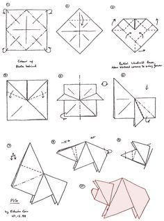 Read information on Origami Origami Pig, Origami Cube, Dollar Origami, Origami And Quilling, Paper Crafts Origami, Origami Cranes, Origami Instructions For Kids, Origami Tutorial, Pig Crafts