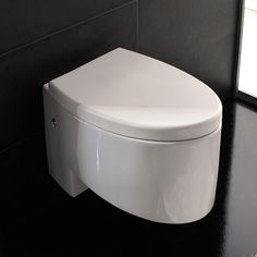 Scarabeo by Nameeks Zefiro Wall Mounted Elongated 1 Piece Toilet Modern Bathroom Light Fixtures, Modern Bathroom Decor, Bathroom Colors, Bathroom Fixtures, Small Bathroom, White Bathroom, Master Bathroom, Bathroom Ideas, Toilet Art