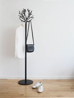 Adding some luxe minimal style to my living room with Lee Longlands — Design Hunter Free Standing Coat Rack, Bedroom Furniture, Furniture Design, Pipe Furniture, Coat Tree, Vintage Clothing Stores, Clothing Racks, Garment Racks, Ligne Roset