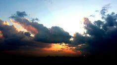 Nuovole al tramonto #polesine ph. Raffaella Gorda