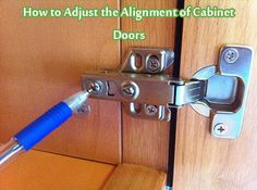 How to Adjust the Alignment of Cabinet Doors - Living Green And Frugally