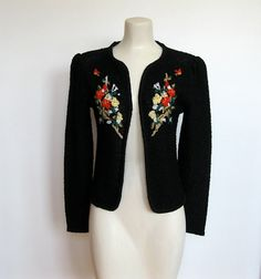 SOLD / Vintage 80s does 40s / Black and Silver Knit by VelouriaVintage, $24.00