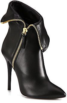 Giuseppe Zanotti Leather Foldover Zipper Ankle Boots on shopstyle.com