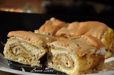 Clatite banatene, cu branza dulce si bezea Irish Cream, Malaga, Coffee Cake, Apple Pie, Muffin, Sweets, Bread, Breakfast, Desserts
