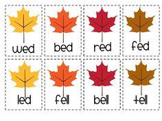Differentiation Station: Fall Leaves Short E Word Sort Art Classroom, Classroom Ideas, Short E Words, Phonics Centers, Fall Words, Teaching Reading, Teaching Ideas, Learning, Alphabet Phonics
