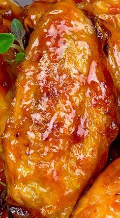 Catalina Wings - The Midnight Baker Chicken Wing Sauces, Chicken Wing Recipes, Baked Chicken, Chicken Wings, Roasted Chicken, Grilled Chicken, Turkey Recipes, Meat Recipes, Cooking Recipes