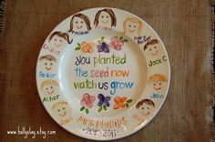 Teacher Plate Customized with Class Faces GREAT TEACHER GIFT