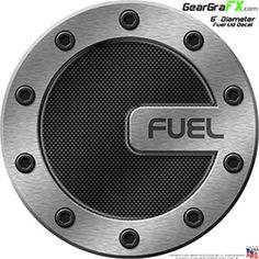 6 inch Carbon Fiber 03 Racing Fuel Lid Decal