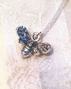 Bee Necklace Charming Handmade Jewelry by NorthCoastCottage