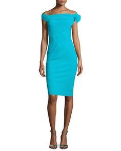 Off-the-Shoulder Sheath Dress  by La Petite Robe di Chiara Boni at Neiman Marcus.