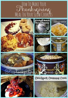 Something that I like to do when I prepare Thanksgiving Dinner is to make as many recipes in my crockpot as I can. We all know I love my crockpots :)  By doing this I can spend less time in the kitchen and more time with my family!