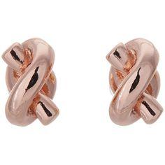 Kate Spade New York Sailor's Knot Stud Earrings Rose Gold Jewelry, Rose Gold Earrings, Stud Earrings, Anchor Jewelry, Anchor Earrings, Boot City, Jewelry Knots, Kate Spade Earrings, Wedding Rings