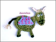 ♥++Esel+♥+Applikation+von+dannichen+auf+DaWanda.com