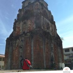 The sinking bell tower of Laoag, Ilocos Norte Ilocos, Old Churches, Pinoy, Philippines, Spanish, Tower, Island, Building, Painting
