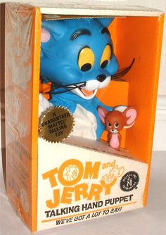 MATTEL: 1963 Tom and Jerry Talking Hand Puppet #Vintage #Toys