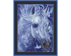 Dreamy White Horse Counted Cross Stitch by InstantCrossStitch