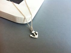 Silver anchor necklace by Bleuberie on Etsy, $30.00