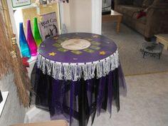 My Deviant Moon inspired gypsy tarot table.