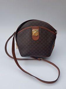 91162ce2cd37 Céline Celine Vintage Macadam Brown Crossbody   Shoulder Bag from ...