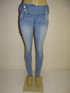 M.MICHEL Push up Levanta Cola Colombian Slim Skinny Butt Lift Light Blue Jeans #MMICHEL #SlimSkinny