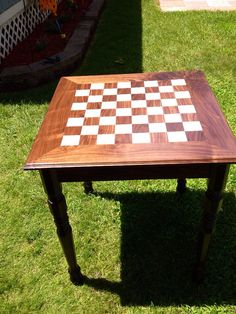 Chess Checkerboard Table Reclaimed Wood by ReclaimedCustomShop