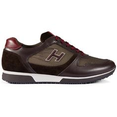 Hogan - Sneakers - H198 ($285) ❤ liked on Polyvore featuring men's fashion, men's shoes, men's sneakers, mens leather sneakers, hogan mens shoes and mens leather shoes