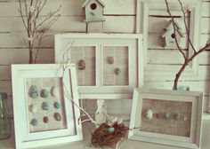 I am forever collecting things--shells, rocks, bits of nature here and there. This is a great idea for showing off the best of the best.