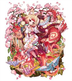 「妖桜の狐火」こんこ