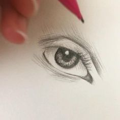 Easy Drawing Tutorial, Eye Drawing Tutorials, Drawing Techniques, Art Tutorials, Pencil Sketch Tutorial, Charcoal Drawing Tutorial, Pencil Drawings For Beginners, Face Painting Tutorials, Eye Tutorial